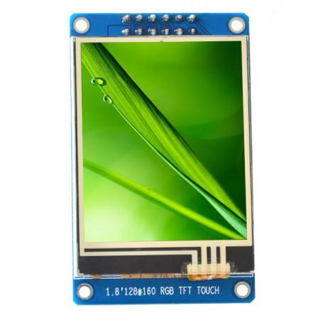 ماژول 1.8 اینچ با تاچ 1.8inch LCD display Module with Touch, 128x160 SPI - ST7735 - کویر الکترونیک