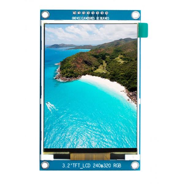 ماژول 3.2 اینچ بدون تاچ 3.2inch LCD display Module without touch - 240x320 - SPI - ILI9341- کویر الکترونیک