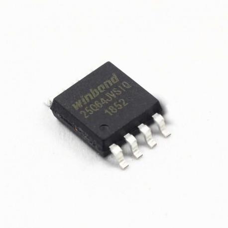 آیسی NOR Flash W25Q64JVSSIQ - اورجینال -New and original+گارانتی -کویرالکترونیک