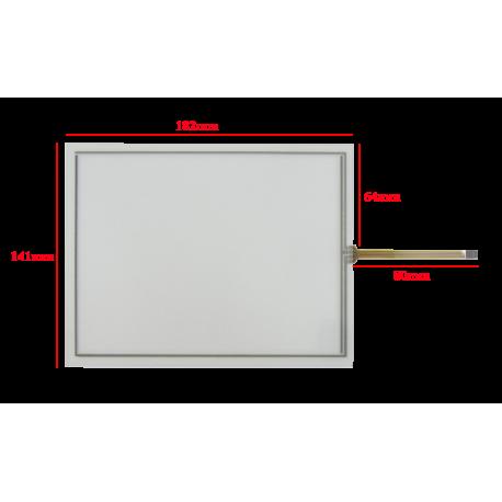 تاچ اسکرین مقاومتی 8.0 اینچ فلت کنار - touch screen 8 inch - کویر الکترونیک