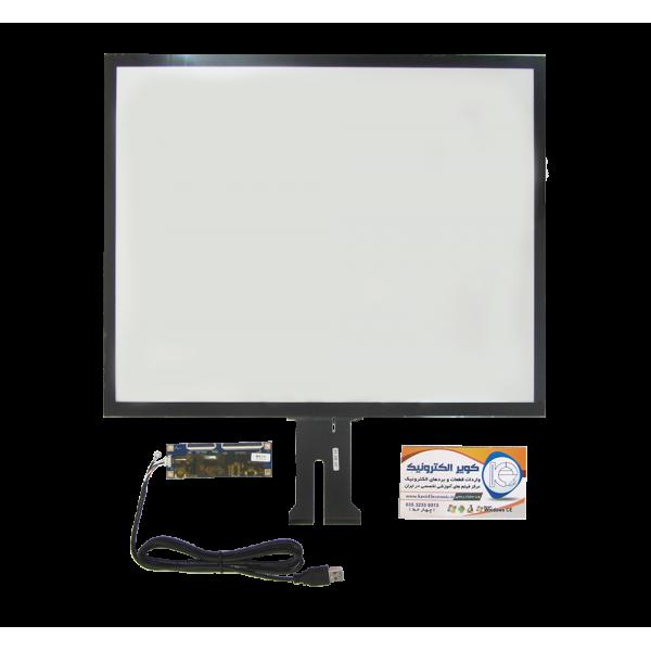 تاچ خازنی 19.0 اینچ کیفیت بالا قابلیت کار در تمامی سیستم عامل ها touch 19 inch -کویرالکترونیک