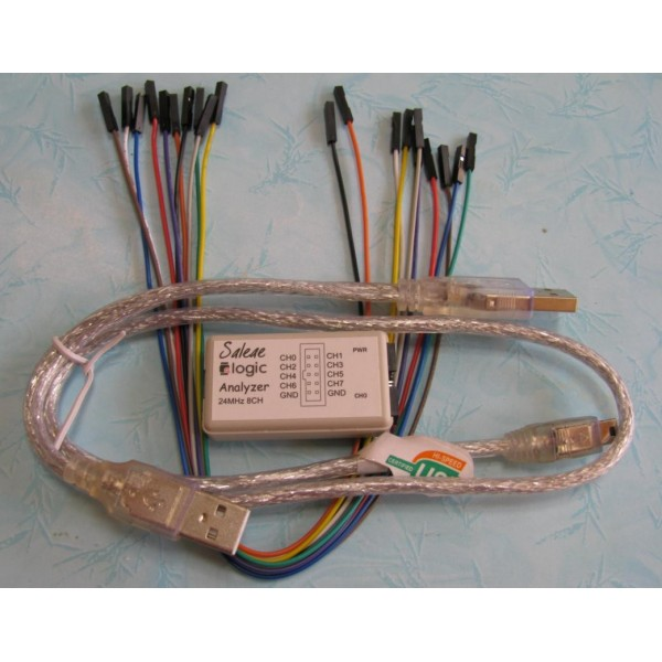 Logic Analyzer USB Saleae 24M 8CH 2013 chip with a buffer chip-کویرالکترونیک