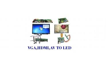 انواع درایور برد VGA,AV,HDMI و رابط ها