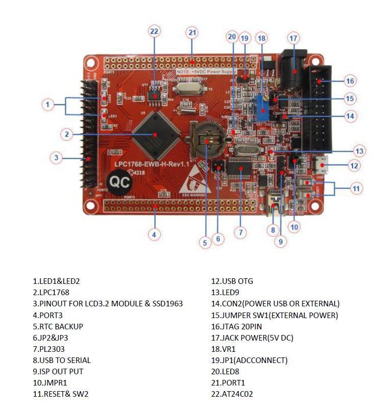 برد آموزشی کاربردیlpc1768- کویر الکترونیک